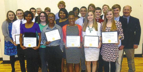 Local schools, students recognized at Rocky Mount Optimist Club banquet