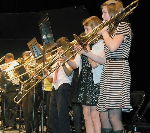 Middle and high school students perform at All District
