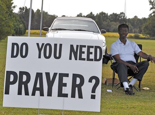 Local man keeps praying