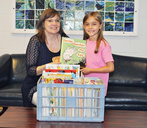 Nashville Elementary first grader donates 150 books